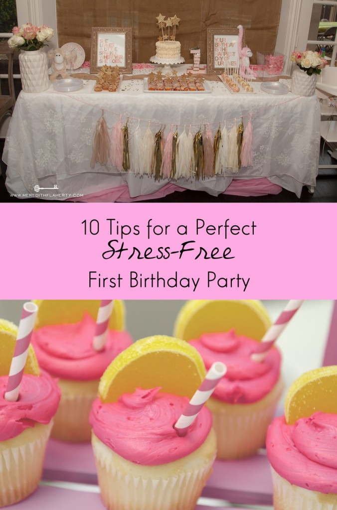 10 Easy Tips, Guaranteed to Make Your Child's First Birthday Party Perfect. Never stress about a party again! From http://blog.cuteheads.com.