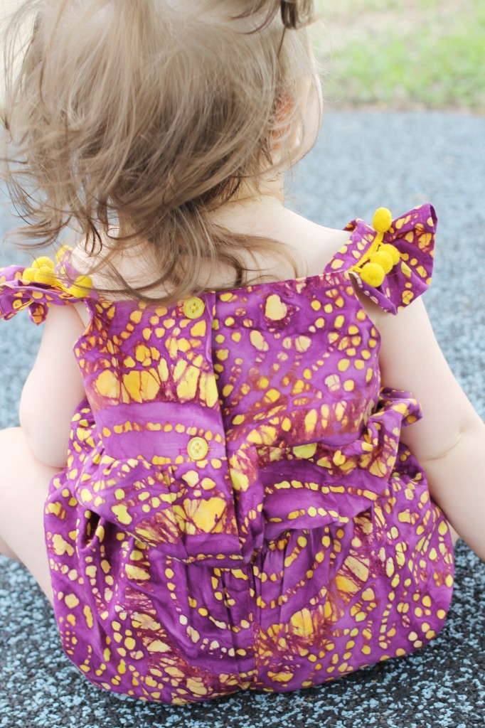 5 purple and yellow flutter sleeve romper designer kids clothes cuteheads