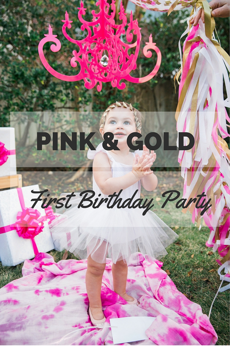 Pink and Gold First Birthday Party Ideas