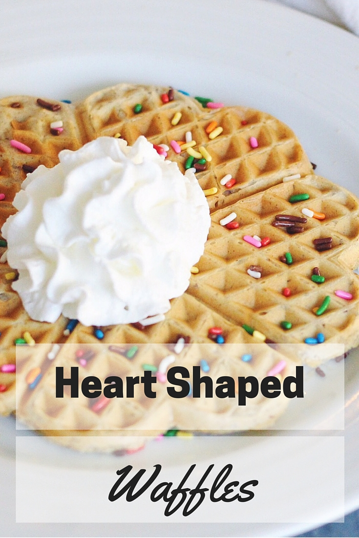 Make these easy heart shaped waffles at home, guaranteed to please both parents and kids. This super simple breakfast is both delicious and fun!