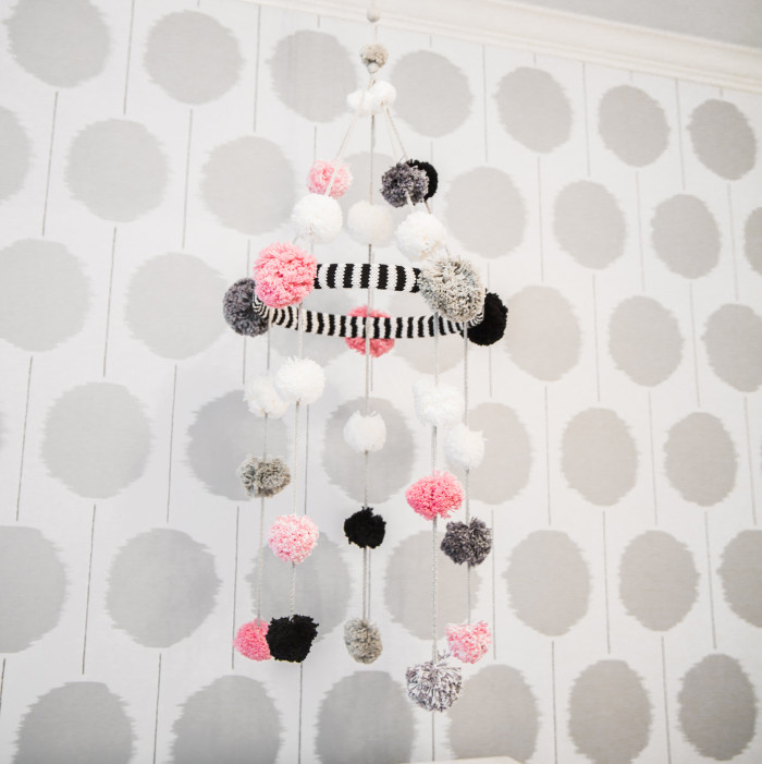 Black, White and Pink Monochrome Nursery | See the entire room at The Cuteness