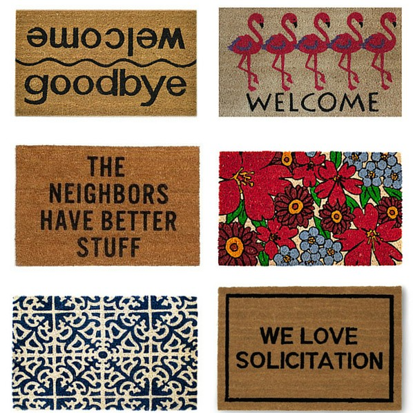 14 Cool Doormats, All Under $50 | Find out where to buy at blog.cuteheads.com