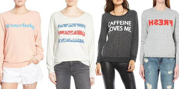 aab5dc7f1117 These are some of my favorite Summer sweaters featuring slogans. Find out  where to shop