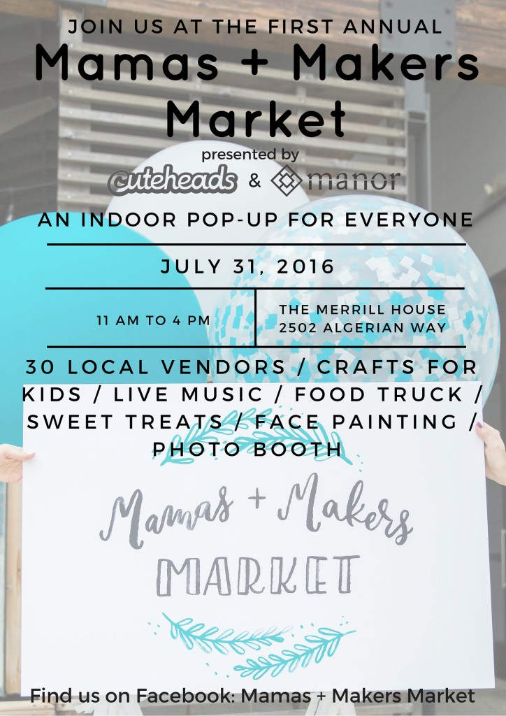 mamas and makers market poster real