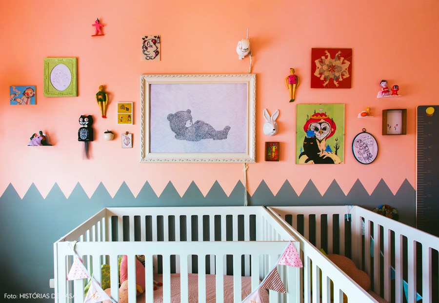 Peach and gray hipster nursery |These Cool Kids Rooms Are So Amazing, You'll Want Them for Yourself
