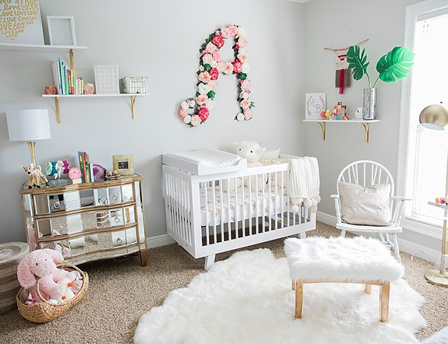 Pink and white nursery |These Cool Kids Rooms Are So Amazing, You'll Want Them for Yourself