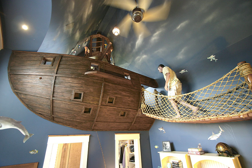 Pirate ship bed | These Cool Kids Rooms Are So Amazing, You'll Want Them for Yourself
