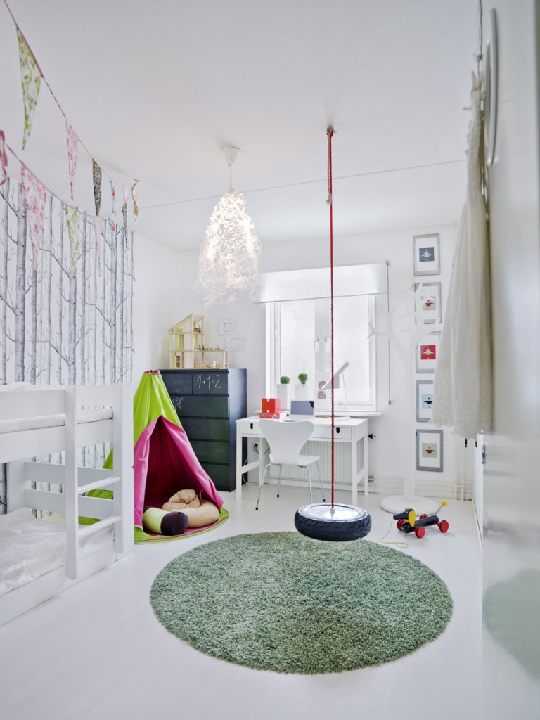 All white kids room with pops of color |These Cool Kids Rooms Are So Amazing, You'll Want Them for Yourself