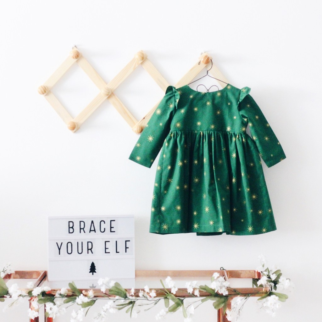 Little girls Christmas dress from cuteheads