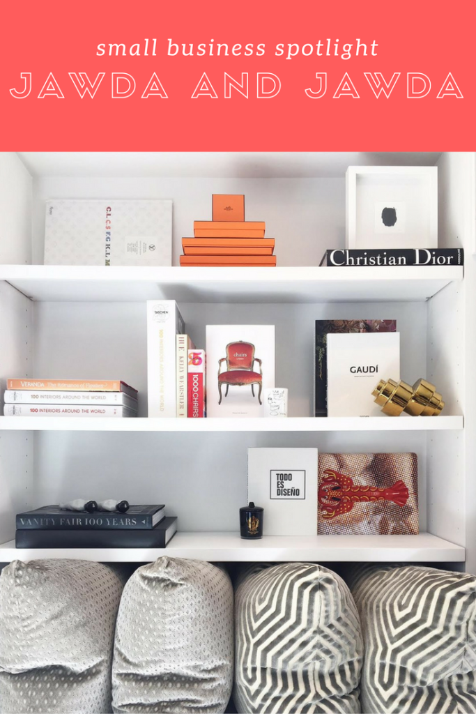 Small Business Success Story: Sarah and Saba Jawda. See how these two creative sisters melded their love of interior and graphic design to create one unique design house. Read more at blog.cuteheads.com. How gorgeous are these styled book shelves?!