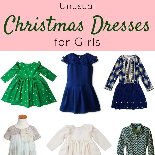 Unusual Christmas Dresses for Toddlers // If you're looking for a dress that's NOT red, green and gold this holiday season, here's your complete guide to Christmas dresses 2016. See where to buy at blog.cuteheads.com.