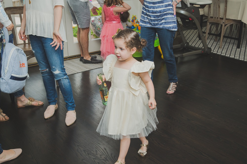 Tova's first birthday party dress // ivory dress with tulle skirt