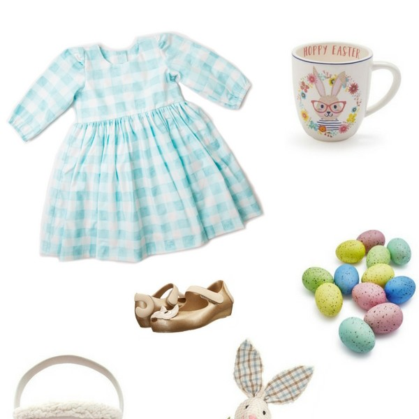 Easter Inspiration Board from cuteheads // shop the Zooey buffalo plaid dress for the perfect girl's Easter outfit + everything shown here at blog.cuteheads.com