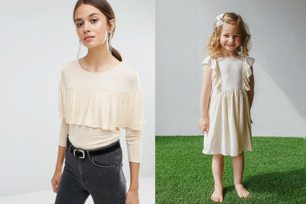 modern mommy and me matching outfits off white cotton jersey