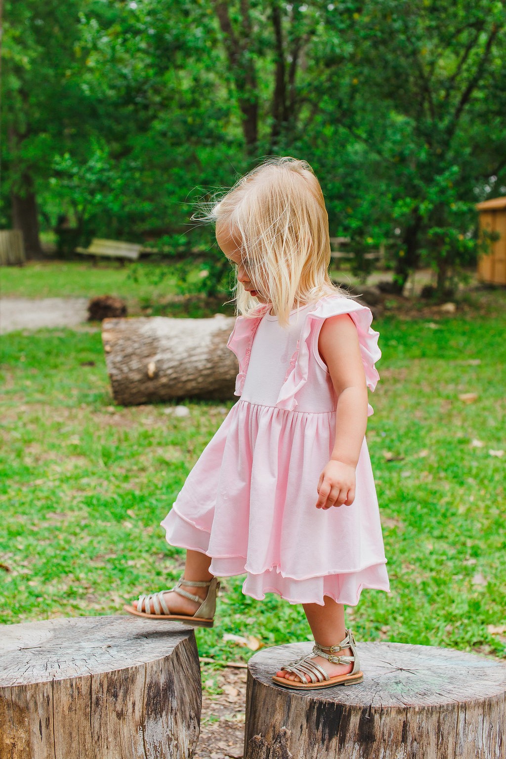 Girls pink boho dress. Shop the Juliet dress at cuteheads.com