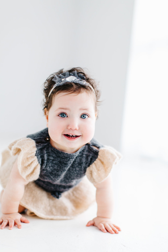 Tova's First Birthday Photoshoot // Shot inside at West Studios in Houston, TX