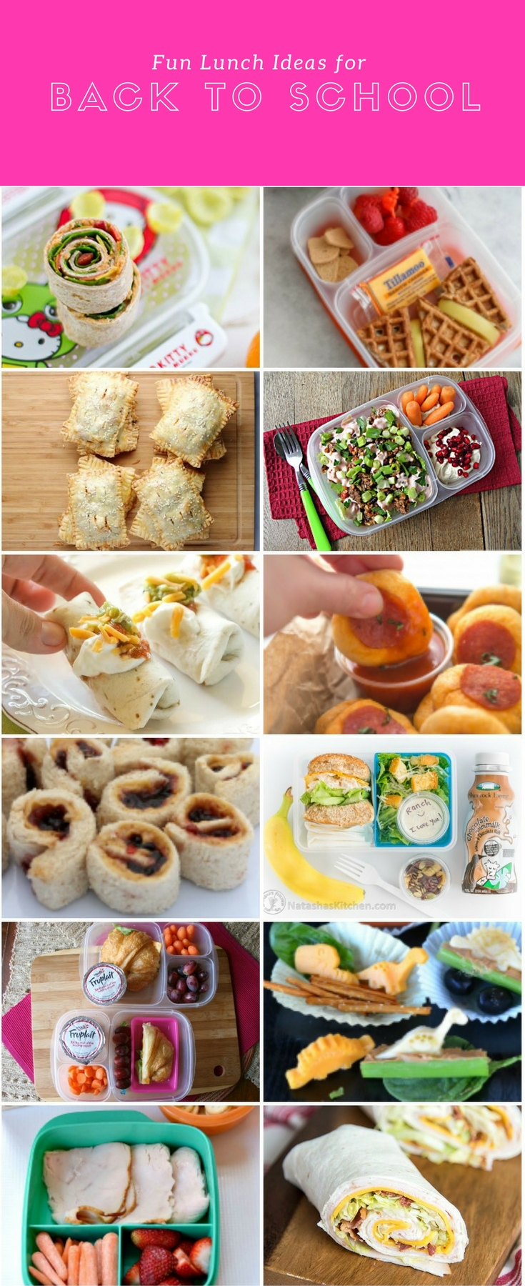 Fun Lunch Ideas for Back to School | A roundup of delicious, non-boring recipes to make your little one's lunch boxes more exciting this school year! Read more at blog.cuteheads.com