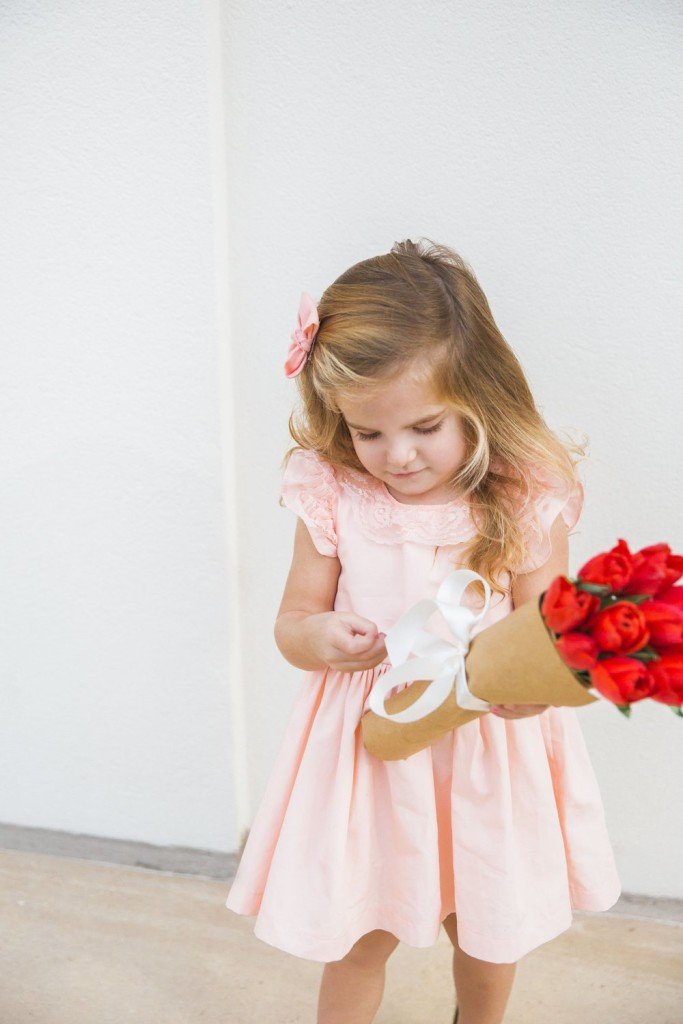 Valentina pink lace dress, the cutest Valentine's Day dress for toddlers