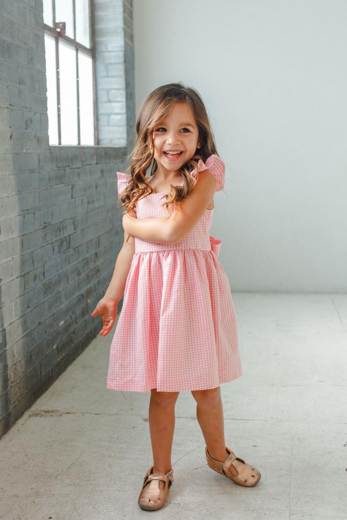 little girls Easter dresses - pink gingham dress