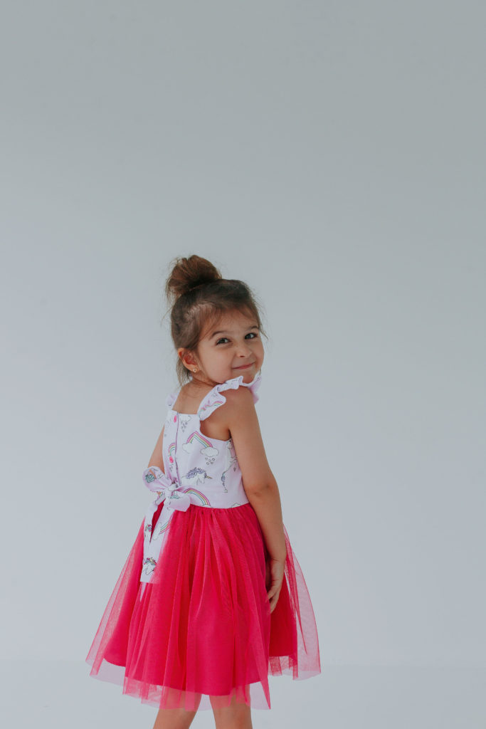 little girls unicorn dress